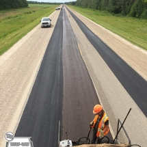 Rutfilling secondary highway