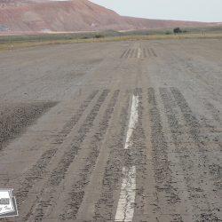 Private runway prior to seal coat