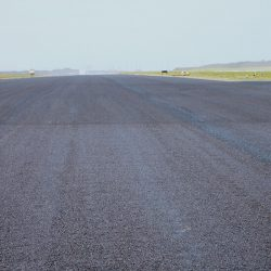 Private runway after chip seal and fog coat