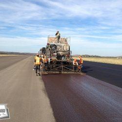 Resurfacing runway
