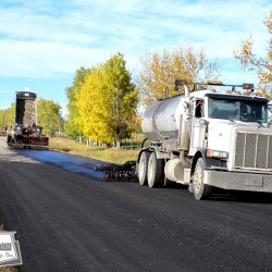 West-Can completed more than 110KM of seal coat on top of grader laid asphalt patches. Both services were provided by West-Can