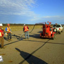 West-Can offers hot pour crack seal and routing services