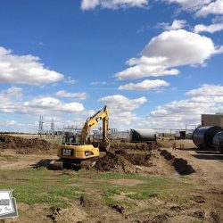 Site construction in the Alberta Industrial Heartland