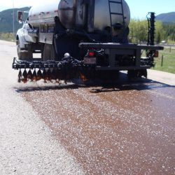 Tack Coating prior to paving operations