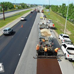 Resurfacing a major 4 lane roadway over a long weekend