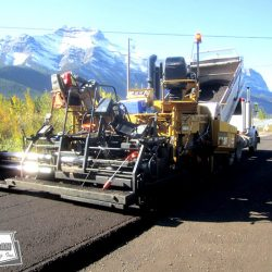 Asphalt millings were processed in our pugmill and placed using conventional paving equipment on a granular roadway