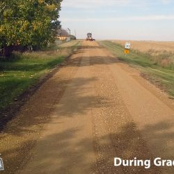 After additional gravel and during grading