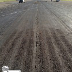 Runway prior to microfill. The centerline crack was more than 800 meters in length