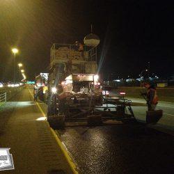 Continuous night micro surfacing between Calgary and Edmonton