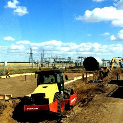 Site work preparation for piles, structural steel, and storage tanks