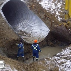 12 foot multi plate culverts reduce the need for small onsite bridges