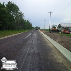 Prime coat prior to asphalt placement
