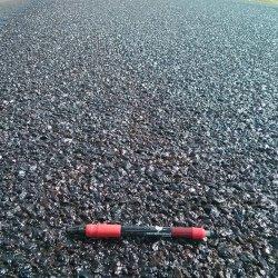 Chip Seal road after Fog Coat