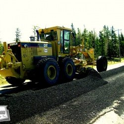 Grader Laid Hot Mix Asphalt