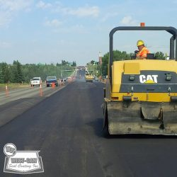 Widening and paving lanes in Beaumont, AB