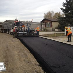 Paving a base and underground project with 150MM of asphalt over 2 lifts