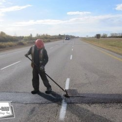 Smoothing transverse Microfill on a 3 lane divided highway