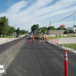 Crews work around municipal schedules to accommodate residence and local business