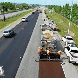 Resurfacing a major 4 lane roadway over a long weekend