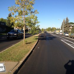 City micro-surfacing and thermoplastic line paint