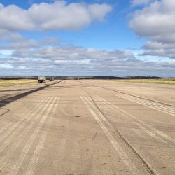 Prior to type 2 micro-surfacing northern airport