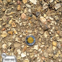 Asphalt prior to sand seal