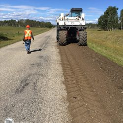 Pulverizing roadway prior to cape seal